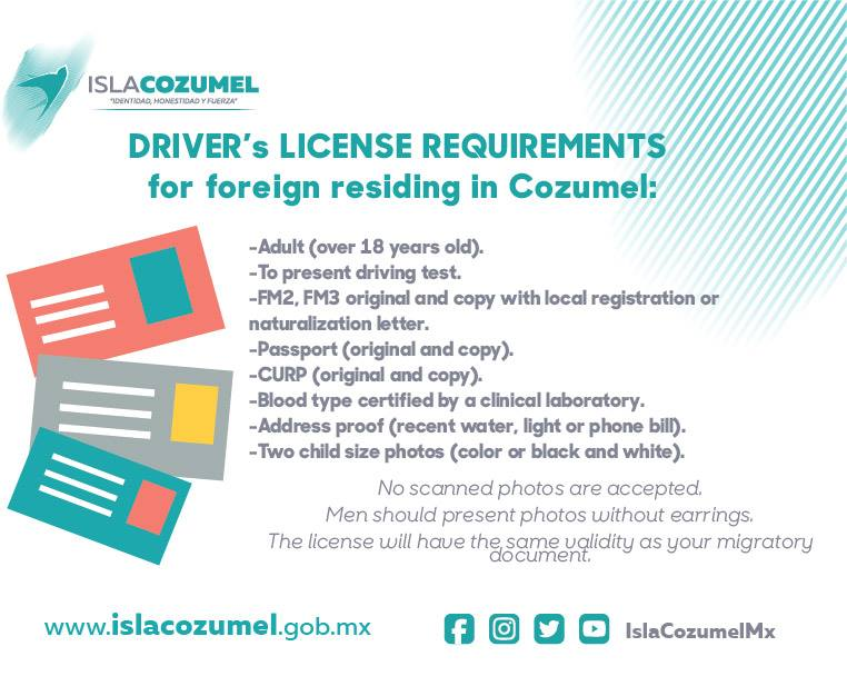 Mexico drivers license requirement the cozumel sun news for Mexico fishing license